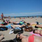zonnen strand